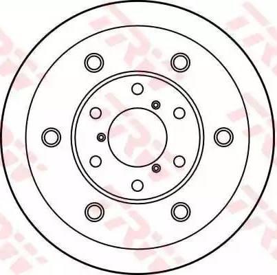 TRW DF1726S - Bremžu diski autodraugiem.lv