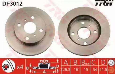 TRW DF3012 - Bremžu diski autodraugiem.lv