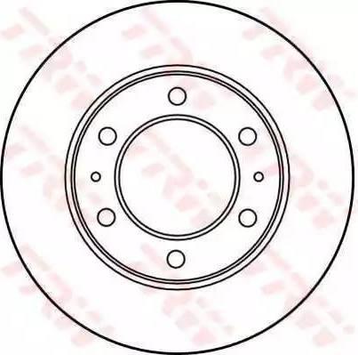 TRW DF3035 - Bremžu diski autodraugiem.lv