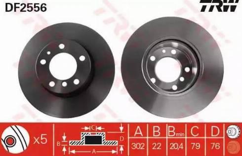 TRW DF2556 - Bremžu diski autodraugiem.lv
