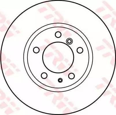 TRW DF2558 - Bremžu diski autodraugiem.lv