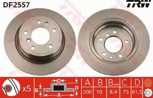 TRW DF2557 - Bremžu diski autodraugiem.lv