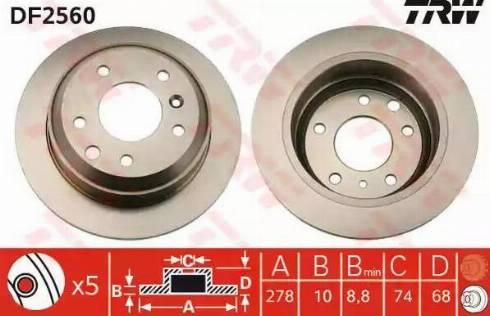TRW DF2560 - Bremžu diski autodraugiem.lv