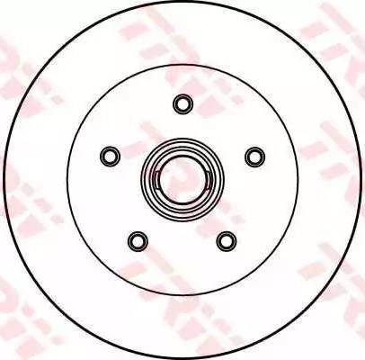 TRW DF2587 - Bremžu diski autodraugiem.lv