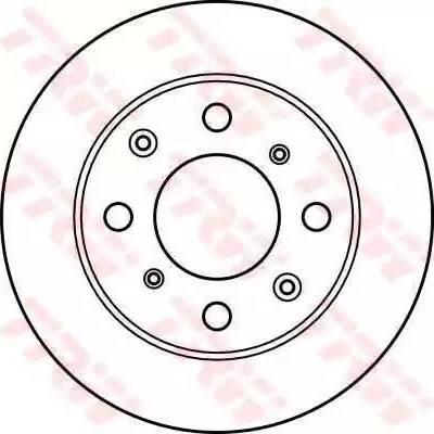TRW DF2640 - Bremžu diski autodraugiem.lv