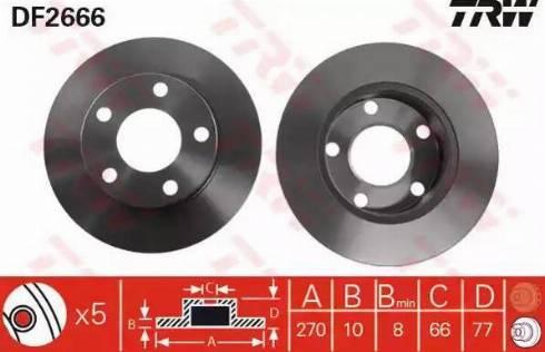 TRW DF2666 - Bremžu diski autodraugiem.lv