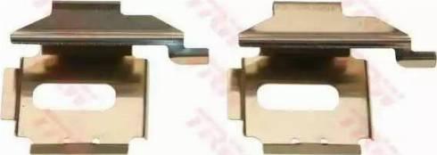 TRW PFK453 - Piederumu komplekts, Disku bremžu uzlikas autodraugiem.lv