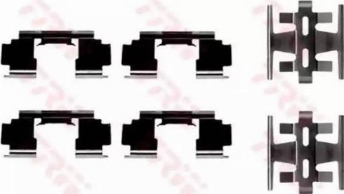 TRW PFK268 - Piederumu komplekts, Disku bremžu uzlikas autodraugiem.lv