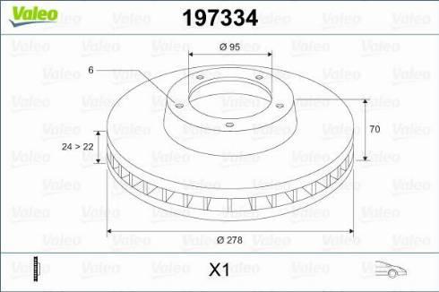 Valeo 197334 - Bremžu diski autodraugiem.lv