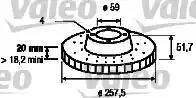 Valeo 186149 - Bremžu diski autodraugiem.lv