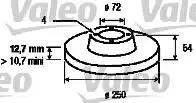 Valeo 186110 - Bremžu diski autodraugiem.lv