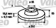 Valeo 186171 - Bremžu diski autodraugiem.lv