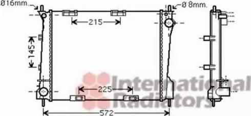 Van Wezel 43002371 - Radiators, Motora dzesēšanas sistēma autodraugiem.lv