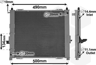 Van Wezel 4301M406 - Dzesēšanas modulis autodraugiem.lv