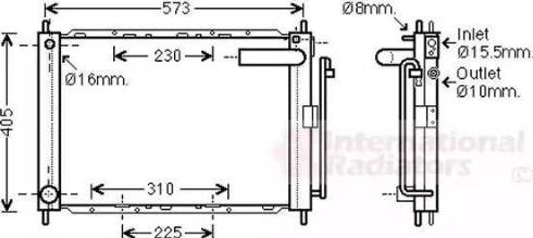 Van Wezel 1300M370 - Dzesēšanas modulis autodraugiem.lv