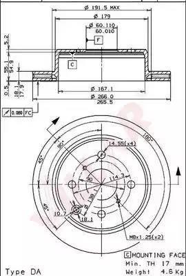 Villar 628.1640 - Bremžu diski autodraugiem.lv