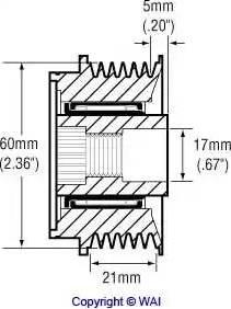WAI 24-2278-3 - Ģeneratora brīvgaitas mehānisms autodraugiem.lv