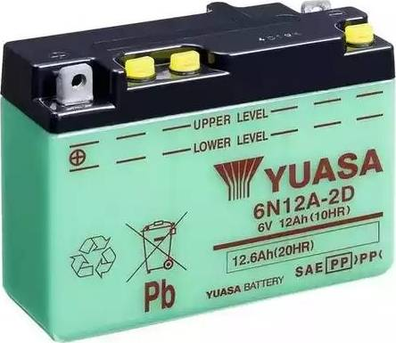 Yuasa 6N12A-2D - Startera akumulatoru baterija autodraugiem.lv