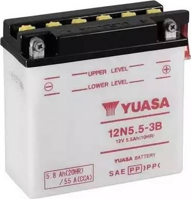 Yuasa 12N5.5-3B - Startera akumulatoru baterija autodraugiem.lv