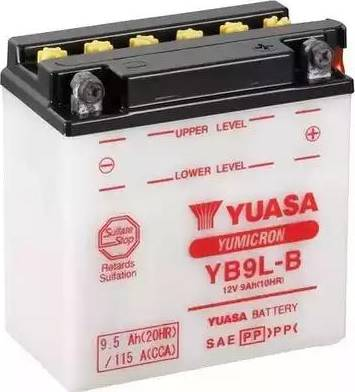 Yuasa YB9L-B - Startera akumulatoru baterija autodraugiem.lv