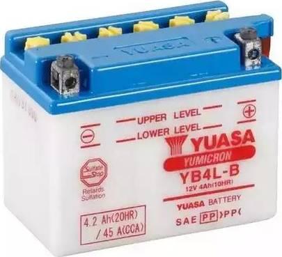 Yuasa YB4L-B - Startera akumulatoru baterija autodraugiem.lv