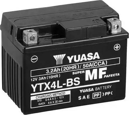 Yuasa YTX4L-BS - Startera akumulatoru baterija autodraugiem.lv