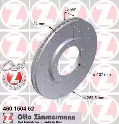 Zimmermann 460.1504.52 - Bremžu diski autodraugiem.lv