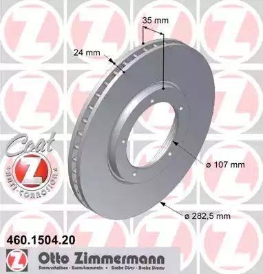 Zimmermann 460.1504.20 - Bremžu diski autodraugiem.lv