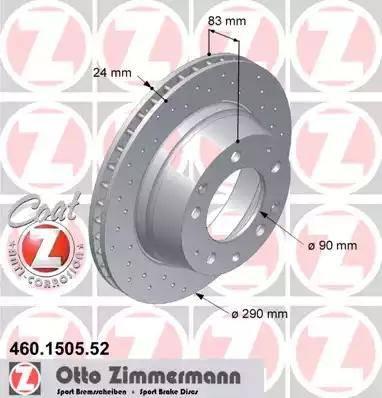 Zimmermann 460.1505.52 - Bremžu diski autodraugiem.lv