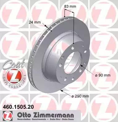 Zimmermann 460.1505.20 - Bremžu diski autodraugiem.lv
