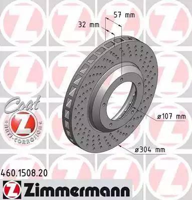 Zimmermann 460.1508.20 - Bremžu diski autodraugiem.lv