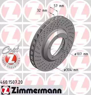 Zimmermann 460.1507.20 - Bremžu diski autodraugiem.lv