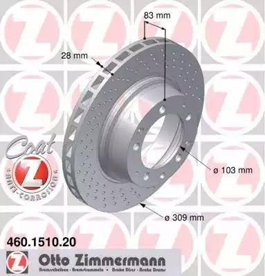 Zimmermann 460.1510.20 - Bremžu diski autodraugiem.lv