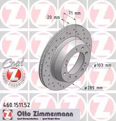 Zimmermann 460.1511.52 - Bremžu diski autodraugiem.lv