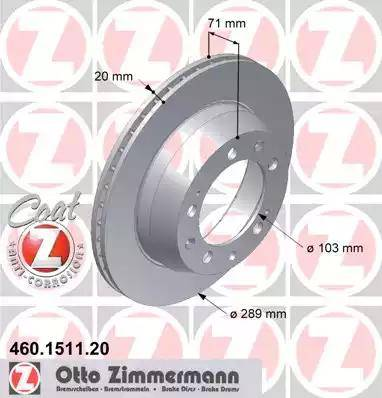 Zimmermann 460.1511.20 - Bremžu diski autodraugiem.lv