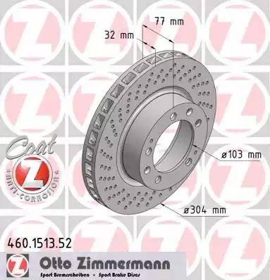 Zimmermann 460.1513.52 - Bremžu diski autodraugiem.lv