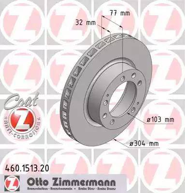 Zimmermann 460.1513.20 - Bremžu diski autodraugiem.lv
