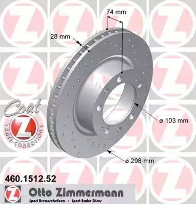 Zimmermann 460.1512.52 - Bremžu diski autodraugiem.lv