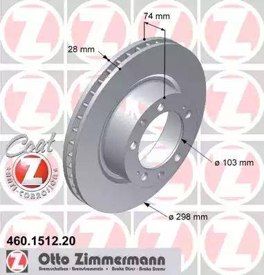 Zimmermann 460.1512.20 - Bremžu diski autodraugiem.lv