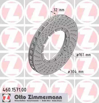 Zimmermann 460.1571.00 - Bremžu diski autodraugiem.lv