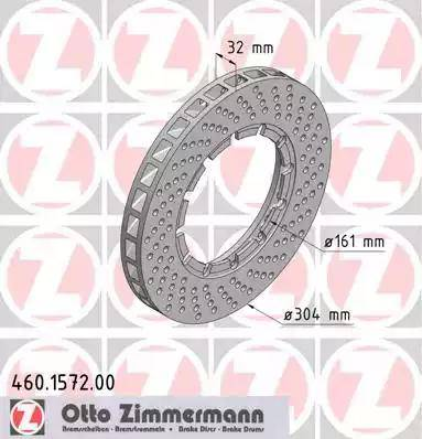 Zimmermann 460.1572.00 - Bremžu diski autodraugiem.lv
