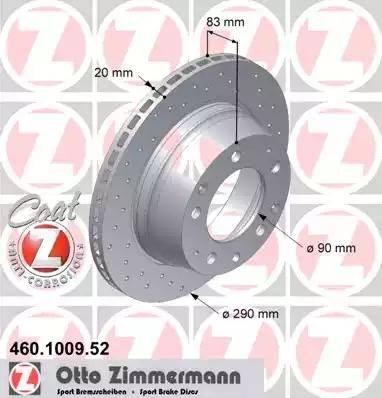 Zimmermann 460.1009.52 - Bremžu diski autodraugiem.lv