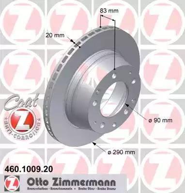 Zimmermann 460.1009.20 - Bremžu diski autodraugiem.lv