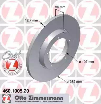 Zimmermann 460.1005.20 - Bremžu diski autodraugiem.lv
