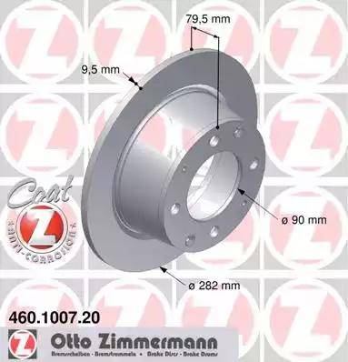 Zimmermann 460.1007.20 - Bremžu diski autodraugiem.lv