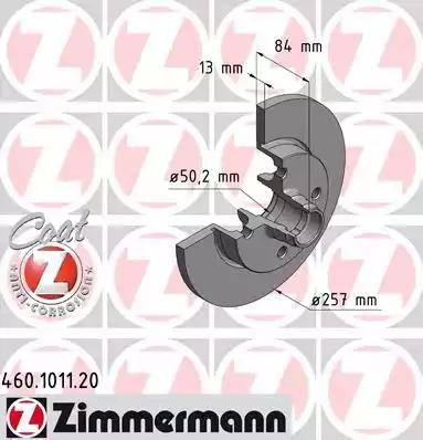 Zimmermann 460.1011.20 - Bremžu diski autodraugiem.lv