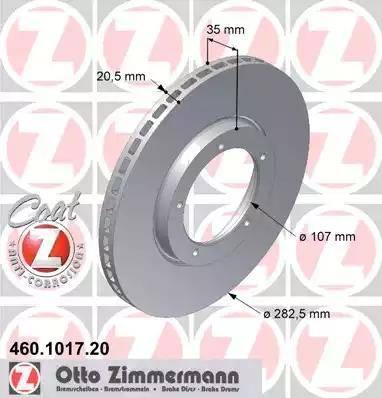 Zimmermann 460.1017.20 - Bremžu diski autodraugiem.lv
