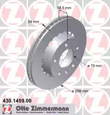 Zimmermann 430.1459.00 - Bremžu diski autodraugiem.lv