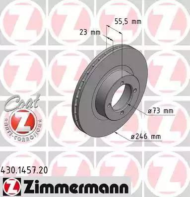 Zimmermann 430.1457.20 - Bremžu diski autodraugiem.lv