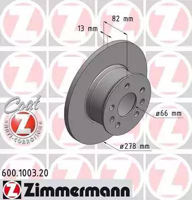 Zimmermann 600.1003.20 - Bremžu diski autodraugiem.lv